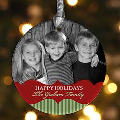 These are so special! You can create your own Christmas ornament with your own photo and any message at Personalization Mall. And if you hurry you can get it on sale for only $7.75! #Christmas #Ornament