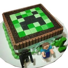 minecraft cake birthday ~ minecraft cake + minecraft cake ideas + minecraft cake easy + minecraft cake birthday + minecraft cakes for boys + minecraft cake pops + minecraft cake cupcakes + minecraft cake diy 8th Birthday Cake, Minecraft Birthday Cake, Birthday Parties, Minecraft Cupcakes, Easy Minecraft Cake, Minecraft Tutorial, Mine Craft Party, Mine Craft Cake, Minecraft Games