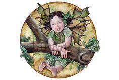 Original illustration  Little Fairy watercolour painting