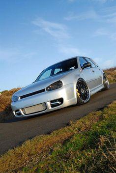 Volkswagen golf 4 door GLS with boser style hood Volkswagen Jetta, Gti Vw, Vw Golf Mk4, Vw Passat, Vw Wagon, Chevy, Golf 4, Engines For Sale, Vw Cars