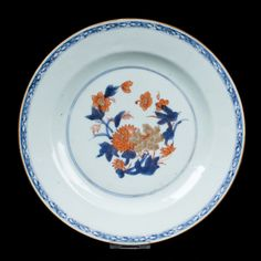 China 18. Jh. Teller -A Chinese Imari Export Porcelain Plate Cinese Chinois Qing