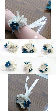 Corsages are fun by offgenemi on deviantART, kanzashi
