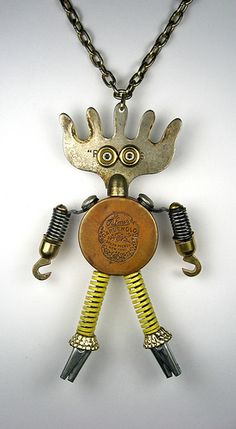 Palmer 1 - Found Object Robot Assemblage Sculpture Necklace By Brian Marshall | Flickr - Photo Sharing!