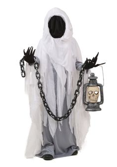 This Child Spooky Ghost Costume is bound to scare the living daylights out of grandma, neighbors and everyone in between.