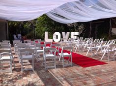 Stunning outdoors ceremony location in our courtyard
