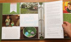 Divided Page Protector Scrapbook - Susie Leggett