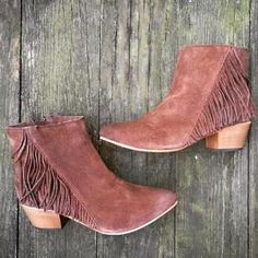 Great fringed booties. / Sponsored by Nordstrom Rack.