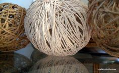 DIY twine decor balls