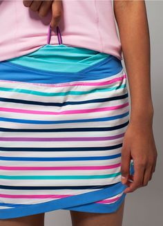 built-in short liner offers extra coverage + drawstring in the waistband allows for a customizable fit.   Match Play Skirt