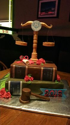 Law school graduation cake.