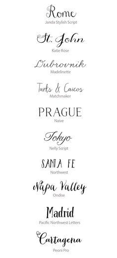 (Foto 10 de 16) Distintos tipos de caligrafía para bodas, Galeria de fotos de Las 50 mejores fuentes caligráficas para tu boda