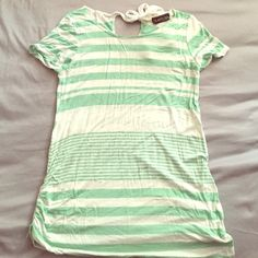 Maternity T-Shirt Pastel green and white stripes maternity T-shirt. Super comfortable. Pre owned. Tops