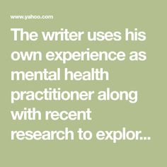 The writer uses his own experience as mental health practitioner along with recent research to explore the prevalence of doctors prescribing psychiatric medication and whether there are safer options available.