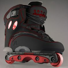 Remz 07 Black-Red in Remz Skates at SkateSetup Aggressive Inline Skates, Skateboard Ramps, Nike Shoes, Sneakers Nike, Inline Skating, Tool Design, Gabriel, Sport Outfits, Ferrari