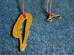 Beautiful 18k solid gold diving swimmer pendant-Yellow gold diving swimmer pendant-Women statement gold pendant-Artisan jewelry-Greek art by ArchipelagosBreeze on Etsy