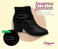 Inverno com estilo, sem abrir mão do conforto, é só com os calçados Campesí!