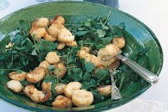 Watercress gives a slightly peppery flavour to this lightly dressed potato salad.
