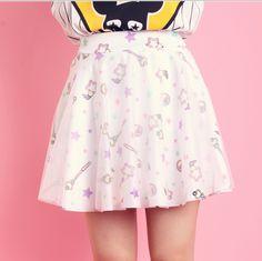 Kawaii Fashion Glitter Tutu Skirt