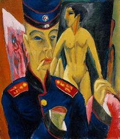 Ernst Ludwig Kirchner, Self portrait as a soldier, 1915
