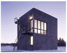 """archatlas: """" Cube House in Ithaca Cube House by Simon Ungers is set within a secluded area of upstate New York, the Cube House is constructed from precast concrete blockwork. Concrete Houses, Concrete Blocks, Architecture Résidentielle, Contemporary Architecture, Style At Home, Casa Loft, Cube Design, Small Space Living, Home Fashion"""