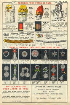Christmas decorations in 1934 French catalog