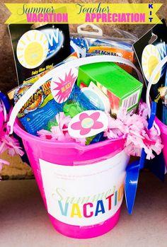 Summer Vacation Teacher Appreciation Gift