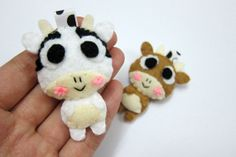 Cute Cow or Goat Keychain/Ornament Magnet  Candance by araleling, $5.00