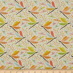 "Pebble Like Design 100/% Cotton Fabric /""Bunny Hop/"" Andover Fabrics Cream//Flesh"