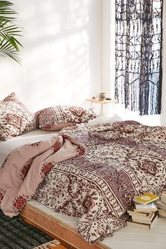 Magical Thinking Boho-Stripe Duvet Cover, getting this for my dorm for sure.#UOonCampus #UOContest