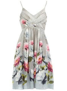 SUMMER OFFER !! WOVEN DETAIL STRAPPED FLORAL DRESS ONLY £5.99!!