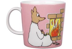 Shop the Moomin Fuzzy Cartoon Character Mug by Arabia, a must-have collectible porcelain/ceramic mug decorated with a cult classic Moomin story. Moomin Cartoon, Moomin Mugs, Tove Jansson, Mug Decorating, Plates And Bowls, Marimekko, Porcelain Ceramics, Cartoon Characters, Finland