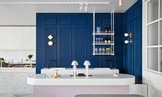 Kitchen Colour Scheme Navy Colour Blocking