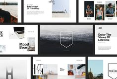 TRAVELO - Powerpoint Template Slides by Evz.std on @creativemarket