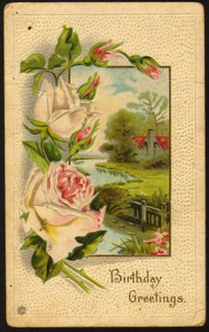 Birthday Greetings...postmarked 1921.