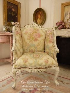 Shabby French Bergere18 th century Louis X by AtelierdeLea