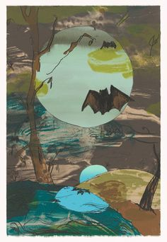 Laura Owens (American, born 1970)  Untitled for Parkett 65  Date:2002Medium:Lithograph with collage additions