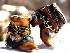 reworked boho boots from TheLookFactory on Etsy