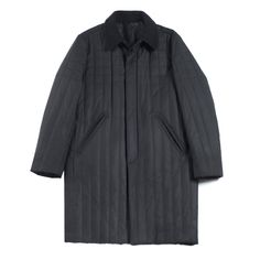 Watvin Trench: Quilted trench coat in a black waxed cotton. Features slash style pockets with Liberty print lining, stud-snaps closure, wool lined inner and wool collar collar for maximum warmth    100% Cotton outer, 100% Wool lining, Made in the USA.