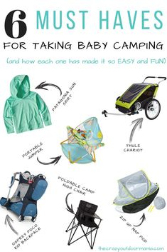 RV And Camping. Great Ideas To Think About Before Your Camping Trip. For many, camping provides a relaxing way to reconnect with the natural world. If camping is something that you want to do, then you need to have some idea Baby Camping Gear, Camping Bedarf, Camping With A Baby, Camping Guide, Luxury Camping, Camping Checklist, Camping Essentials, Family Camping, Outdoor Camping