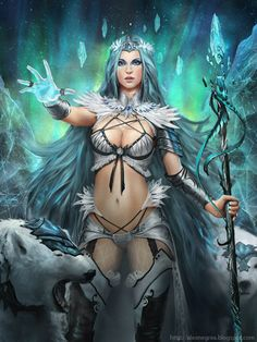 sorceress fantasy women | ... Cryptids Picture (2d, fantasy, girl, woman, mage, sorceress, portrait