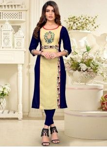Online kurti shopping made easy! Shop this pretty blue and cream party wear kurti for festival. Fancy Party, Party Wear, Blue Fashion, Fashion Outfits, Celebrity Gowns, Latest Kurti, Lehenga Choli, Fashion Advice, Casual Tops