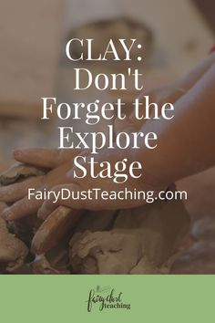When it comes to material introduction, we tend to forget the explore stage. Click to explore the magic and wonder of the explore stage when using clay.