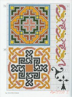 Gallery.ru / Photo # 91 - Celtic patterns - Clematis Celtic Cross Stitch, Biscornu Cross Stitch, Cross Stitch Tree, Mosaic Patterns, Loom Patterns, Craft Patterns, Cross Stitch Patterns, Celtic Knot Designs, Celtic Patterns
