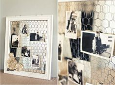 chicken wire frame with mirror