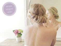We've teamed up with StyleMePretty.com to bring you a new wedding hair idea each month. See the full tutorial here! http://www.stylemepretty.com/living/2013/09/19/an-elegant-updo-in-seconds/