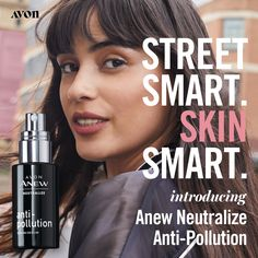 Pollution can age your skin. Avon,s Anew Neutralize Anti-Pollution can help stop it. Protect your skin from pollution and reveal your true natural beauty. Mask Duo, Giving Up Smoking, Thing 1, Avon Online, Liquid Eyeshadow, Avon Representative, Dull Skin, Tinted Moisturizer, Face Serum