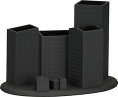 skyline desk organizer | CB2 | Use to hold flatware/florals/something else?