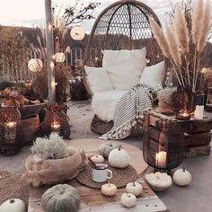 So now is mine - Draussenzimmer - Balcony Furniture Design Bohemian Patio, Bohemian Decor, Hippie Bohemian, Bohemian Garden Ideas, Bohemian House, Outdoor Spaces, Outdoor Living, Outdoor Ideas, Patio Design