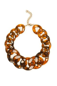 ShopSosie Style : Tortoise Link Necklace
