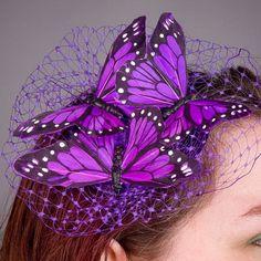 Purple Butterfly Hair Decoration <3